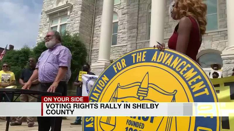 Voting rights rally in Shelby County