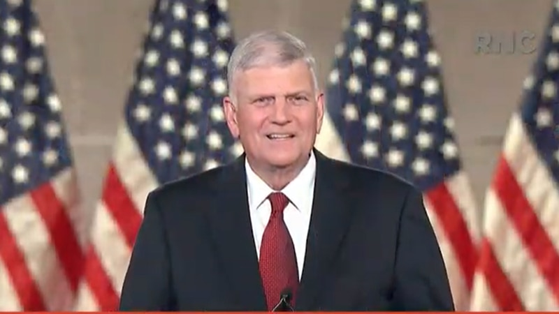 Franklin Graham gave the invocation prayer at the 2020 Republican National Convention.