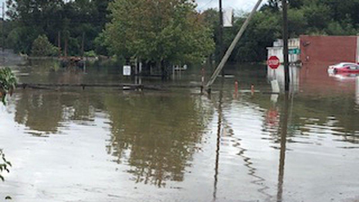 Flooding in Brewton