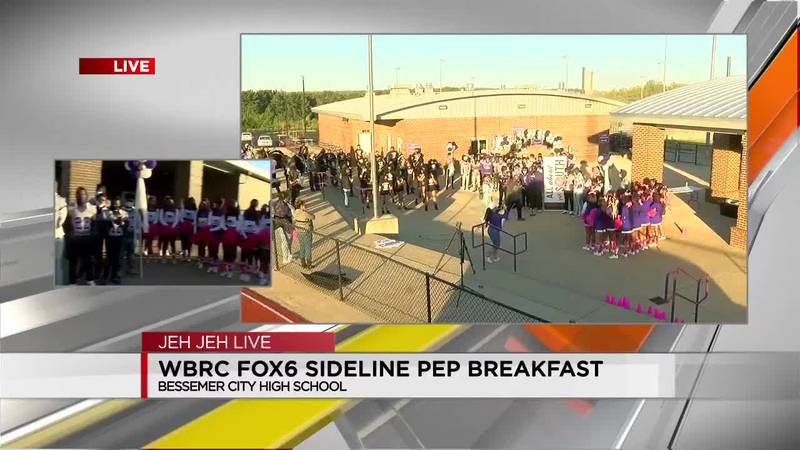 Sideline breakfast at Bessemer City High