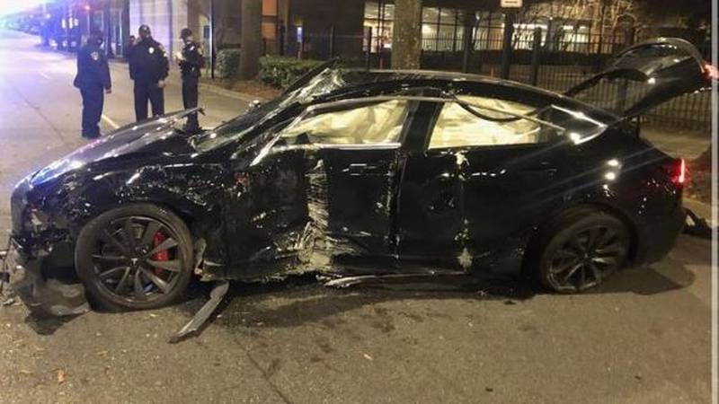 Jacob Knight says his Tesla was stolen from valet parking and totaled in downtown Birmingham.