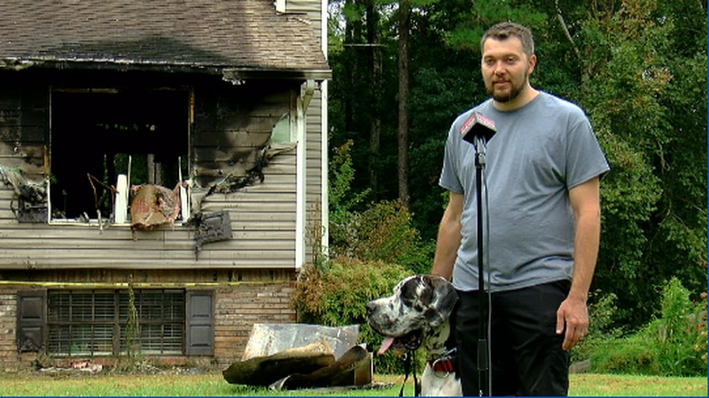 Walker Co. home catches fire.
