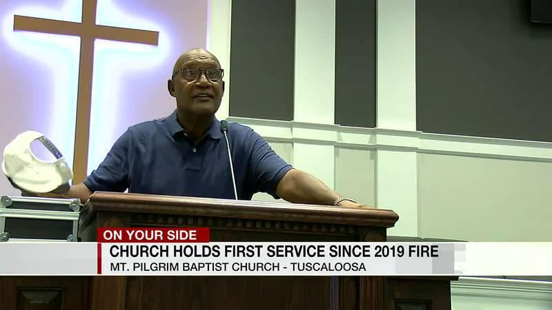 Mt. Pilgrim holds first service following fire