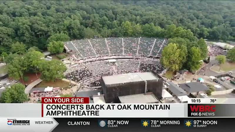 Concerts back at Oak Mountain Amphitheatre