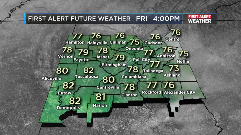 ook for mostly clear to partly cloudy skies today. (Source: WBRC weather)