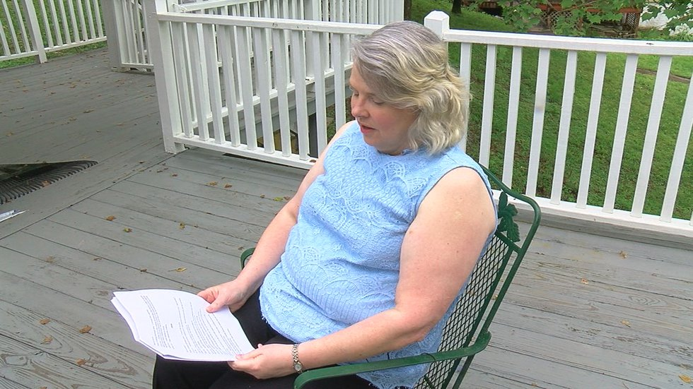 Shirley Carr keeps a journal of the train blockages.