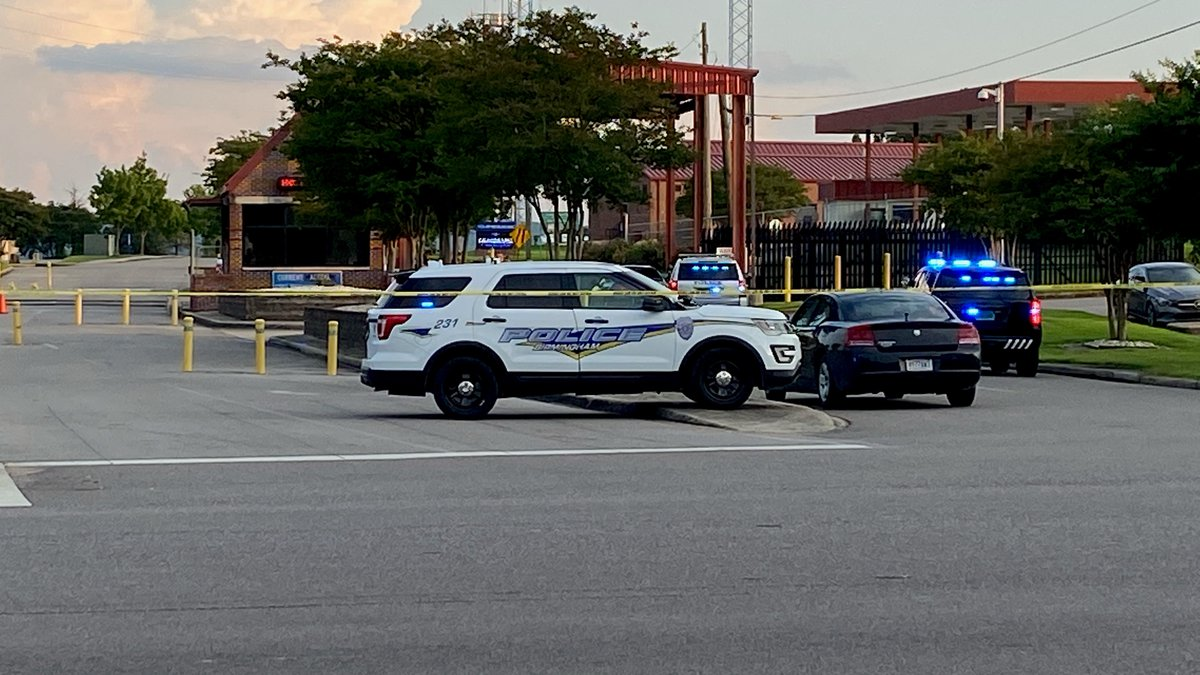 Scene at Sumpter Smith ANG on East Lake Boulevard following shooting in Tarrant