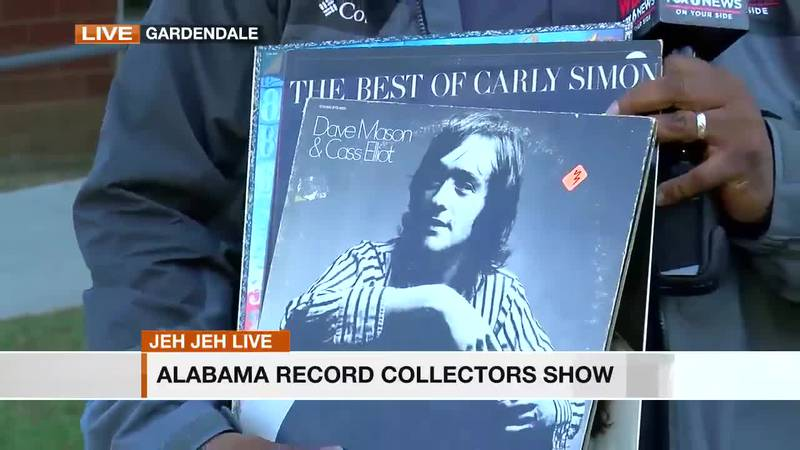 Jeh Jeh is live at the Alabama Record Collectors Show in Gardendale this weekend.