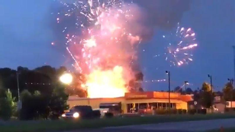 A fire broke out outside a fireworks shop in Fort Mill Thursday morning, sending fireworks...