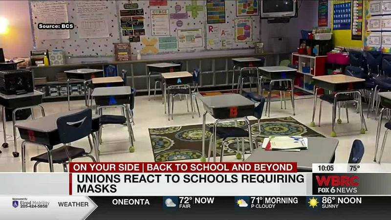Union reacts to schools requiring masks
