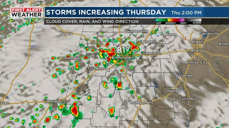 Thursday storms.