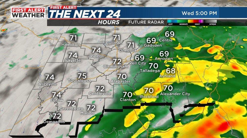 Hurricane Sally will move through Alabama on Wednesday and Thursday.