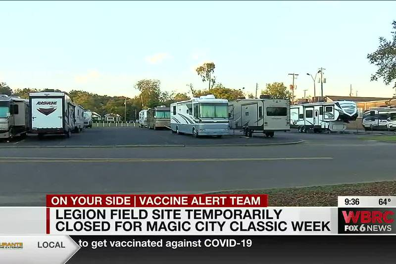 Legion Field vaccine site temporarily closed for Magic City Classic week
