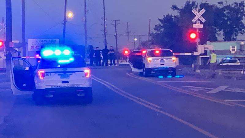 There is a heavy police presence at a railroad crossing on Vanderbilt Rd. in Birmingham.