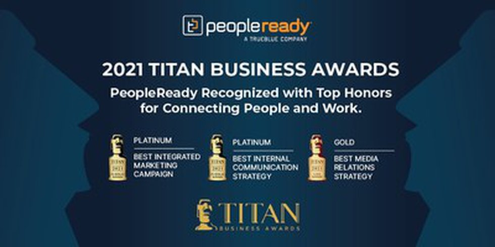 Staffing leader PeopleReady earned top honors for marketing and communications excellence in...