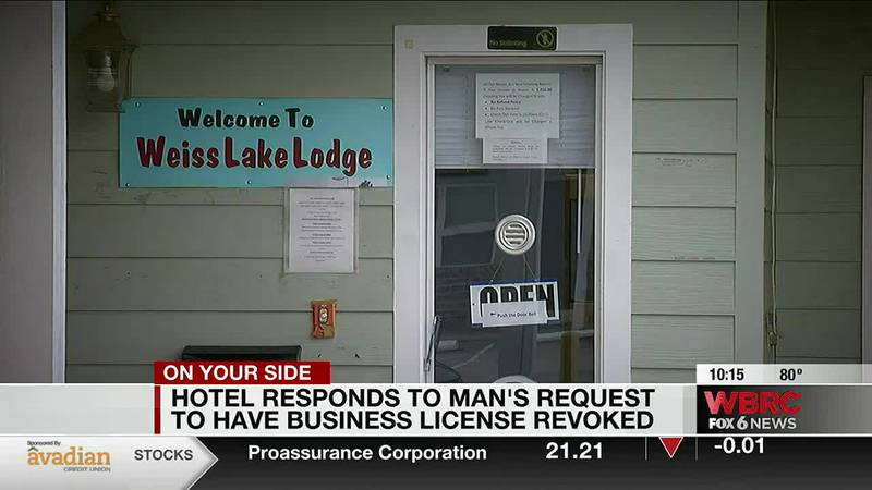 Hotel responds to man's request to revoke business license