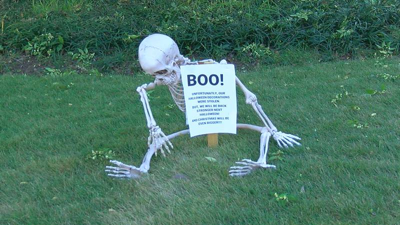 It's spooky season! You'll find ghosts and goblins and big black cat inflatables in front lawns...