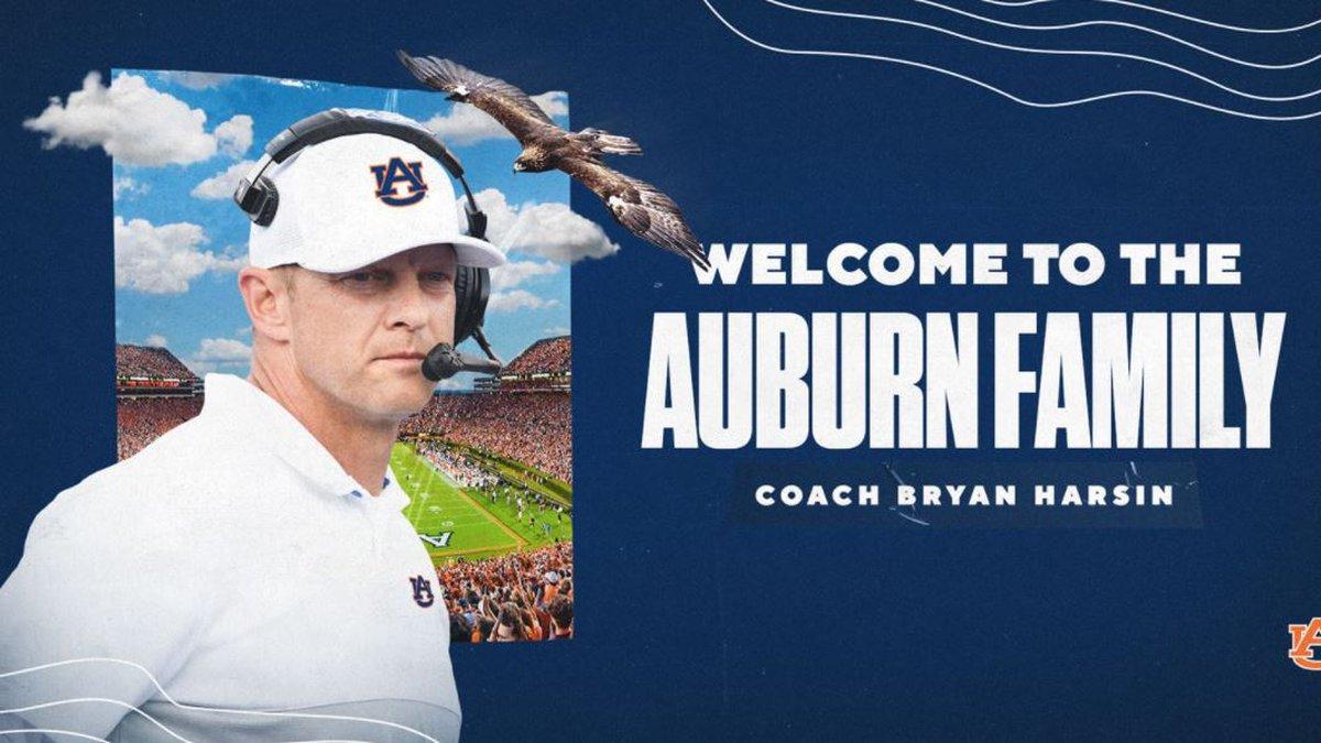 Bryan Harsin has been named Auburn University's head football coach.