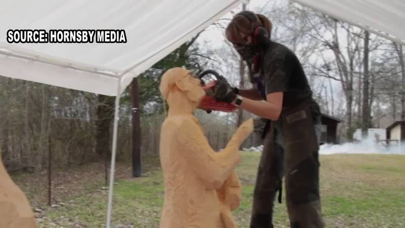 Heather Bailey is a chainsaw carver artist and has been crafting pieces of art for more than a...