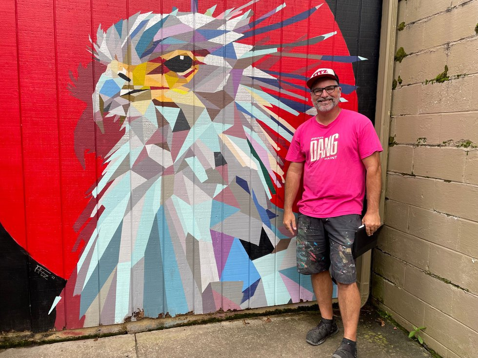 Shawn Fitzwater hopes art will add joy and raise awareness about species