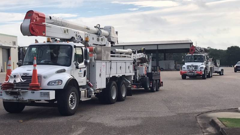 Alabama utilities crews rolled out to help Louisiana with hurricane damage.