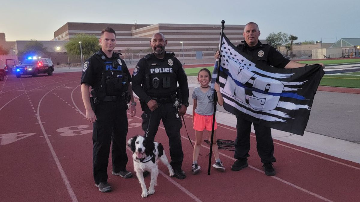 8-year-old Theresa Ann is working to raise money by honoring K9′s killed in the line of duty.