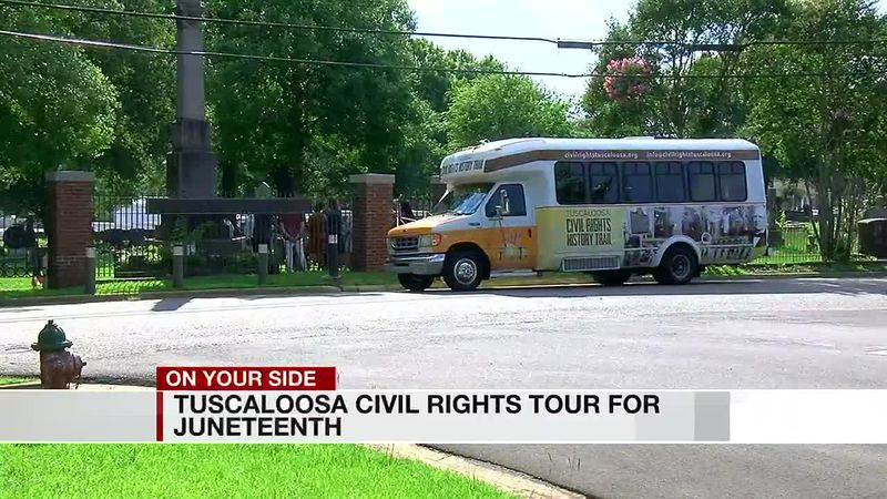 Tuscaloosa Civil Rights tour for Juneteenth