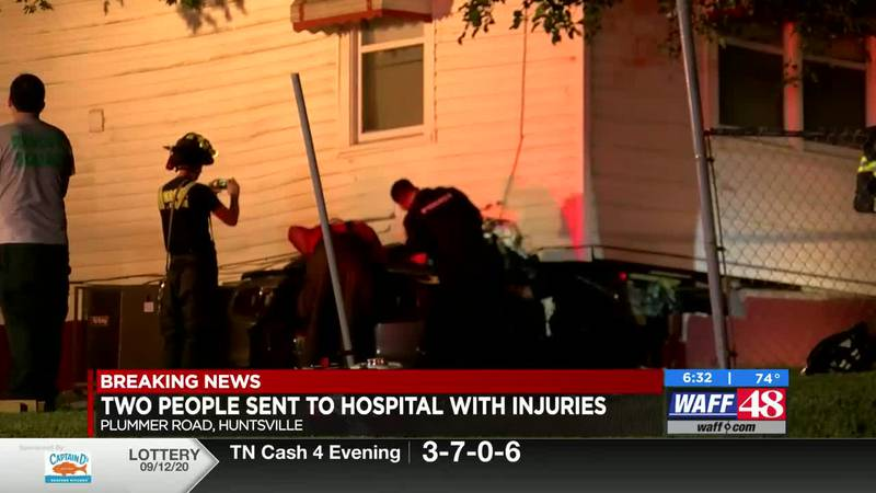Car drives into house in Huntsville.