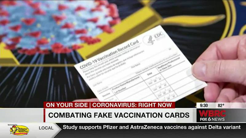 Combating fake vaccination cards