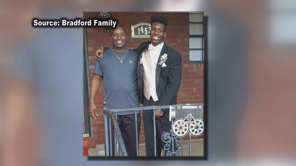 EJ Bradford Jr. with father Emantic Bradford Sr.
