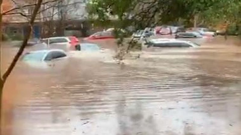 Heavy flooding caused a Charter school in northeast Charlotte to evacuate Thursday as heavy...