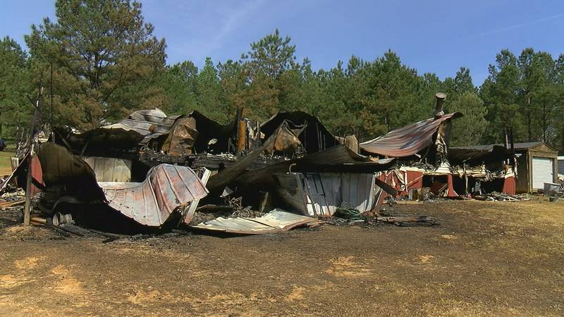 Nicole Johnson's house was destroyed in a fire in late April.