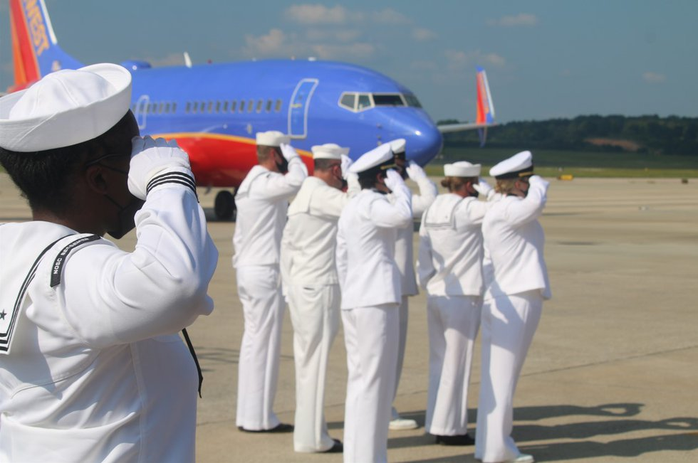 A solemn ceremony at Birmingham Shuttlesworth international airport Tuesday as the remains of a...