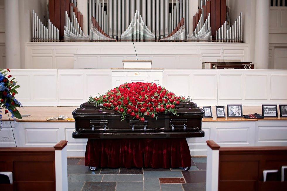 Bobby Bowden lay in repose at Samford University