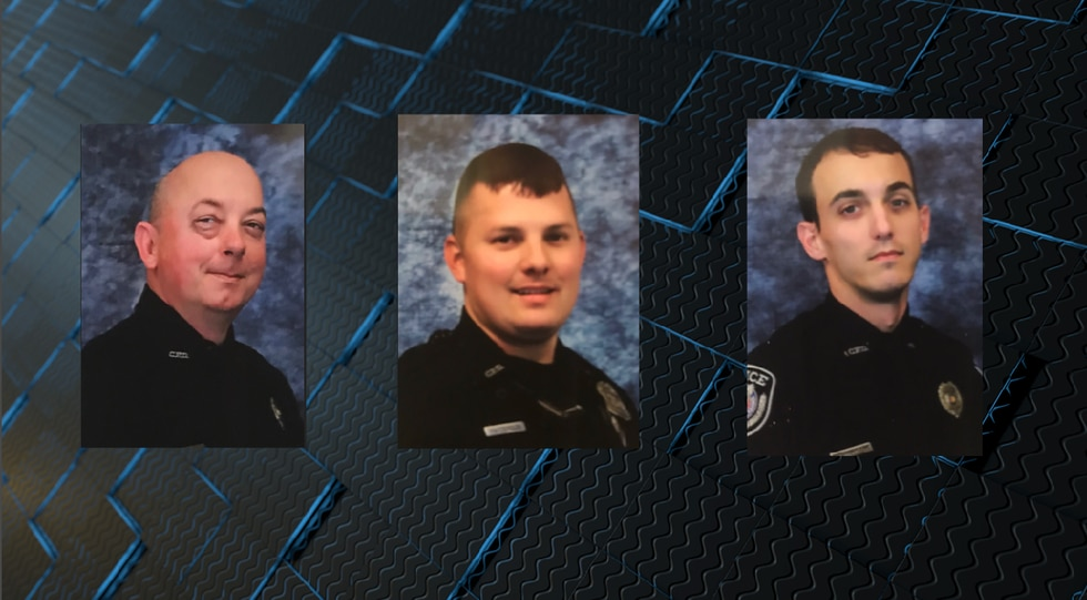 Officer Roy Bates, Officer Brandon Patterson and Officer Trey Higginbotham all worked to help...