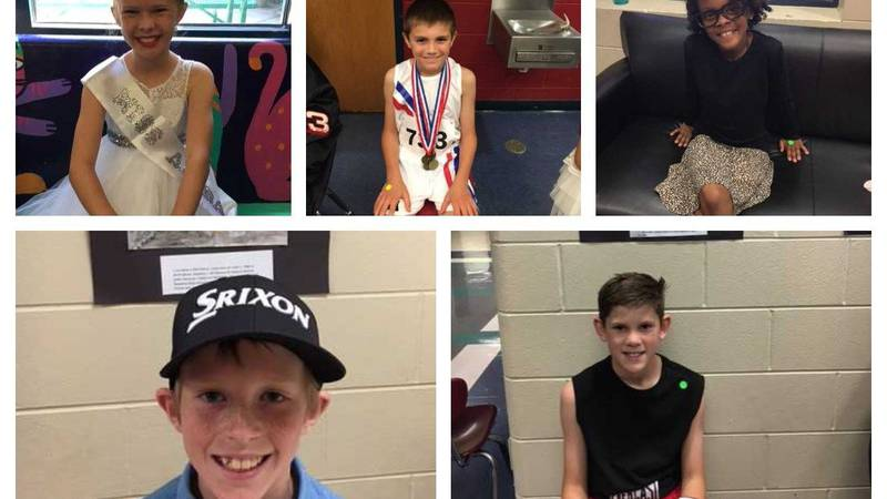 South Shades Crest Elementary fourth-graders take part in a living wax museum. (Source: Julie...