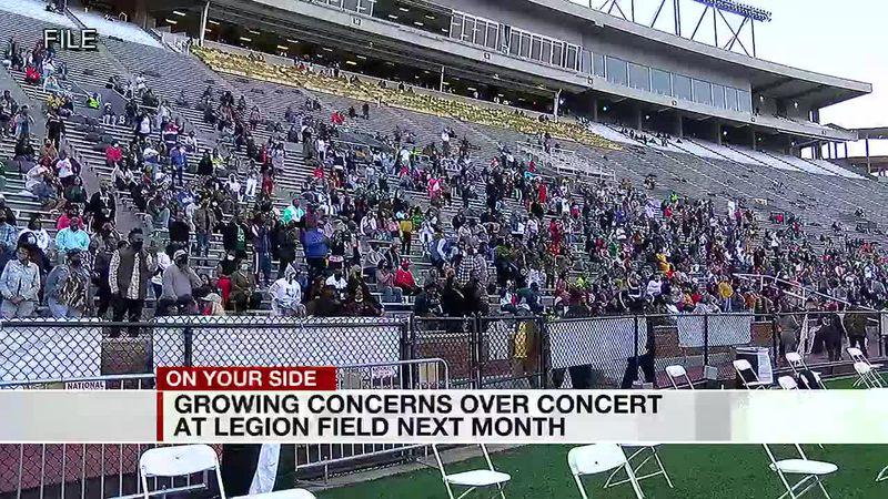 Legion Field concert concerns