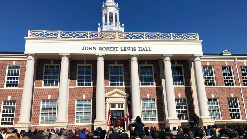 John Robert Lewis Hall is dedicated on the main campus of Troy University. The late Troy native...