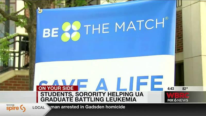 Students, sorority helping UA graduate battling leukemia