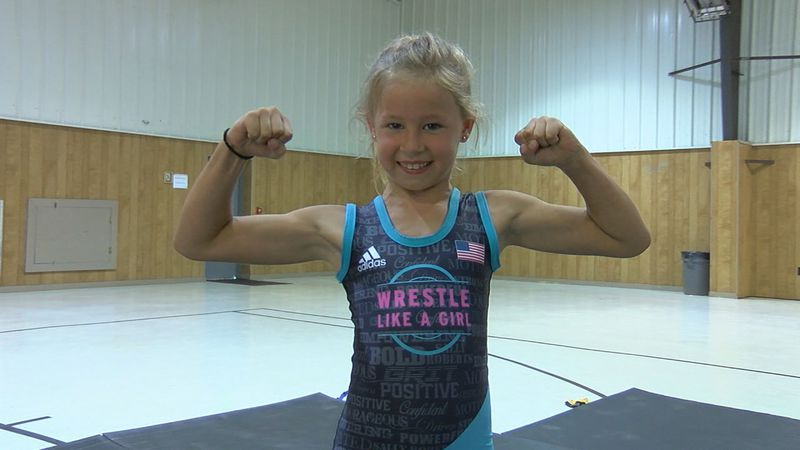 Alaina Gilbert practices in Brookwood for her upcoming wrestling tournaments.