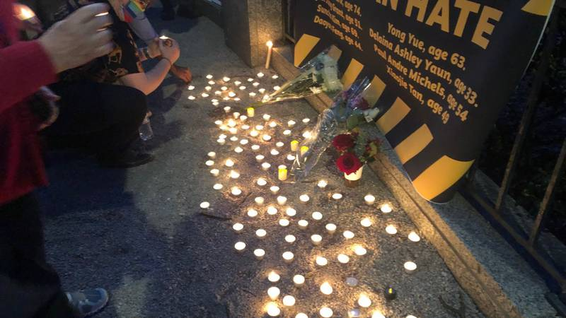 Vigil in Linn Park recalls victims of violence against Asian-Americans