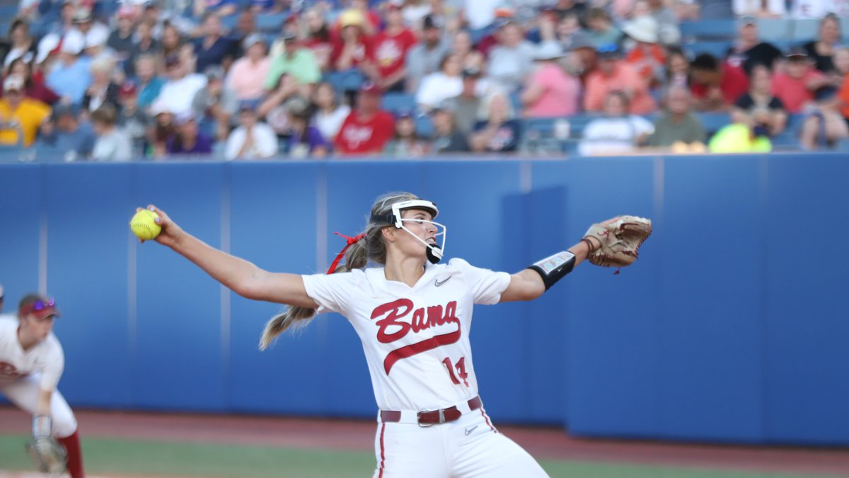 Alabama's Montana Fouts struck out 16 and gave up two hits as the Crimson Tide beat Arizona 5-1...