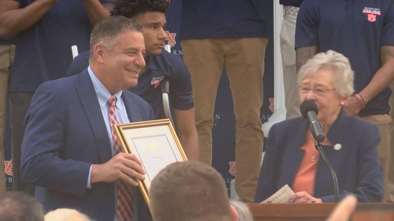 Gov. Kay Ivey honored the Auburn men's basketball team for their NCAA Tournament run Wednesday...