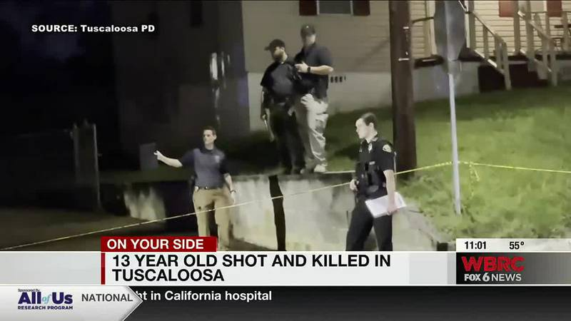 13 year old shot and killed in Tuscaloosa