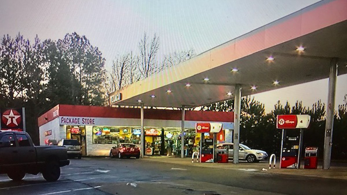 Police are looking for three men who robbed a gas station with hammers.