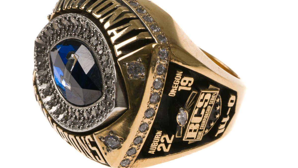 Pat Dye's 2010 Auburn University National Championship Ring is among items in his collection up...