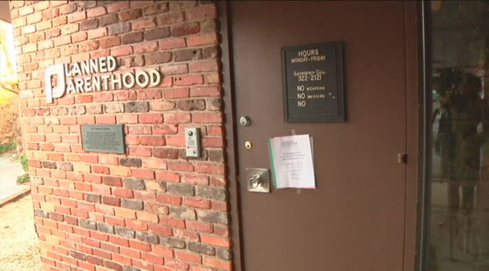 Planned Parenthood when it closed temporarily in January. Source: WBRC video