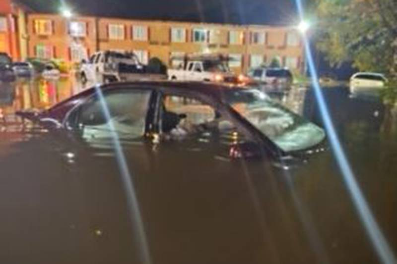 Water rescues and flooding in Pelham