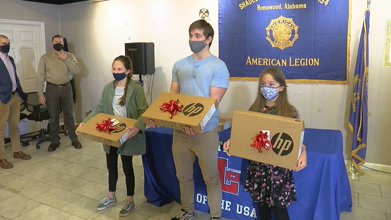 The Lettermen of the USA gifted Gold Star Children with free laptops in the Birmingham and...