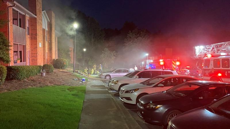Fire at Riverhaven Apartments